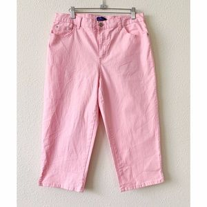 Kim Rogers Baby Pink Cropped Pants